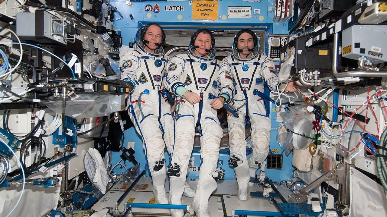 Заняття фітнесом на Міжнародній космічній станції