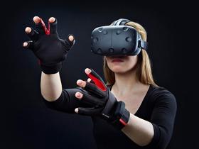 М'якість пера та твердість бетону з перчатками віртуальної реальності